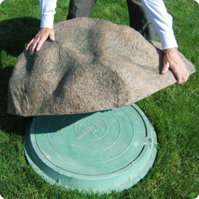 Крышки для септика в виде камня